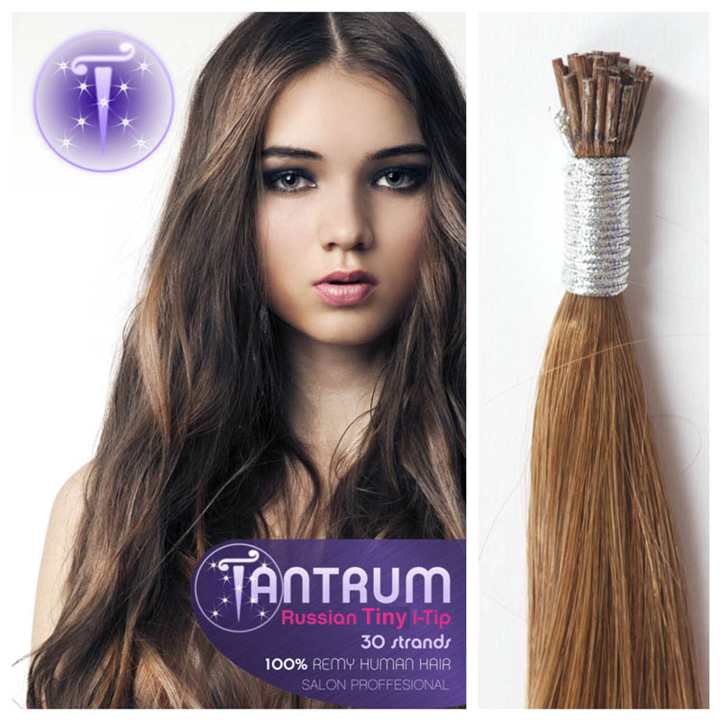 Russian tiny i tip 22 tantrum hair extensions 10 light golden brown pmusecretfo Image collections